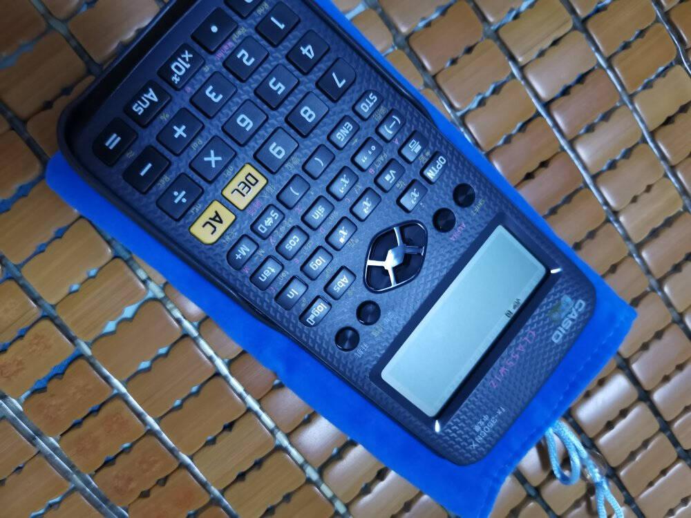 卡西欧(CASIO)FX-350CNX注册会计师税务师一级二级建造师考试计算器多功能函数科学计算机黑色+【保护袋+备电池+螺丝刀+手机架】