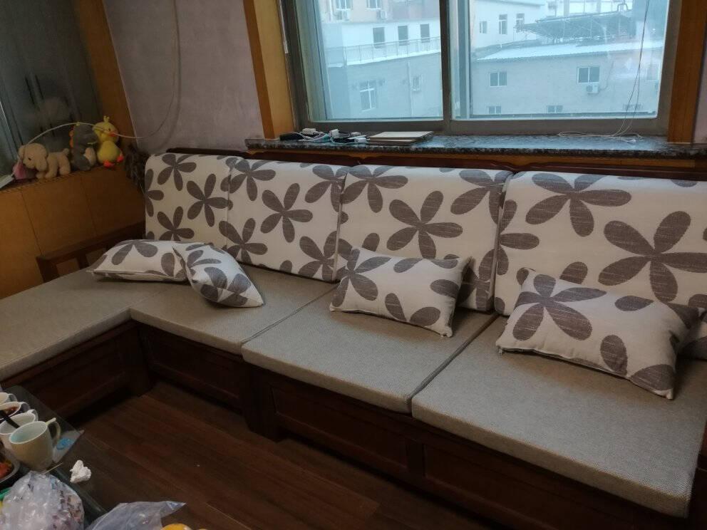 谦雅沙发实木沙发组合客厅新中式现代简约套装家具冬夏两用大小户型储物木质沙发双扶手单人位