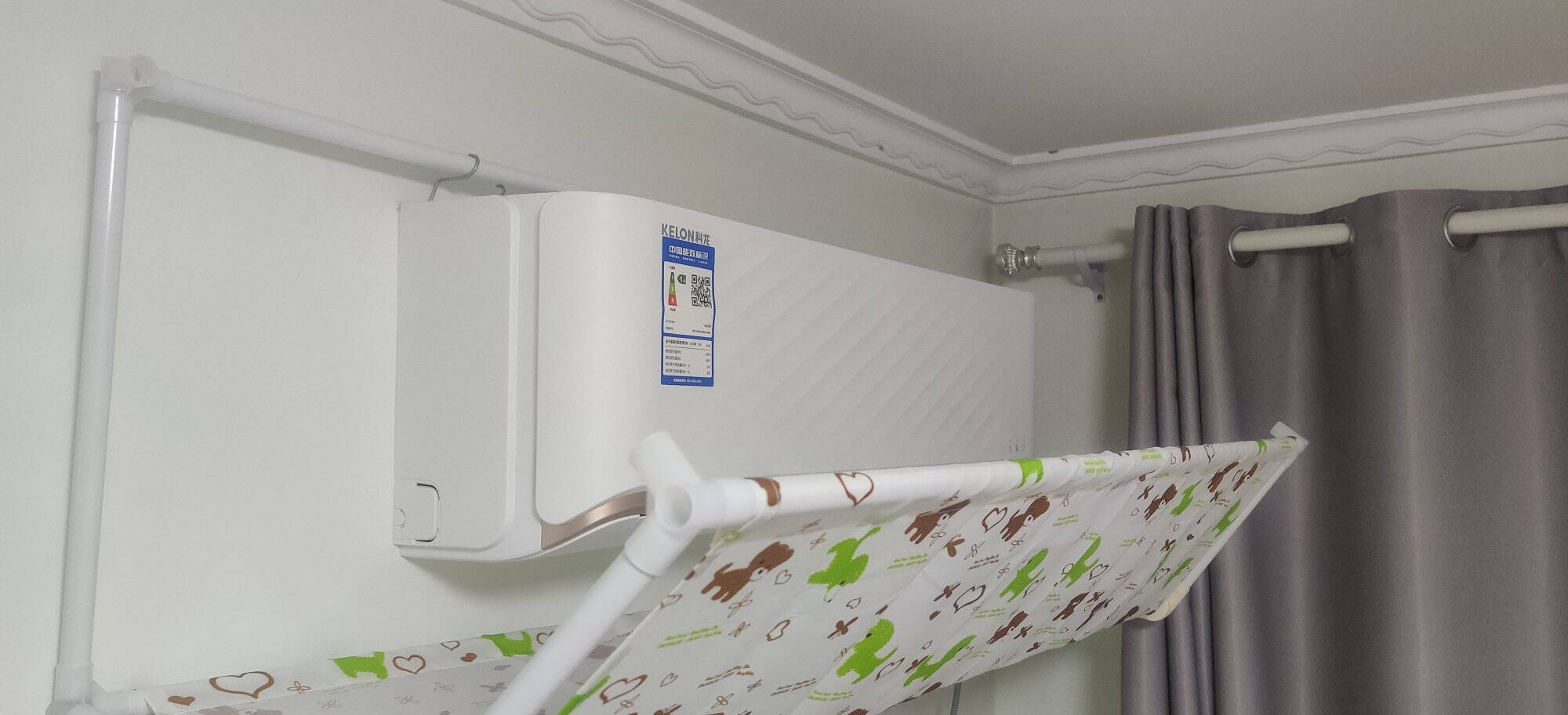 科龙(KELON)大1.5匹/大1匹新一级能效壁挂式冷暖直流变频节能自清洁智能空调柔风感1.5匹KFR-35GW/QFA1