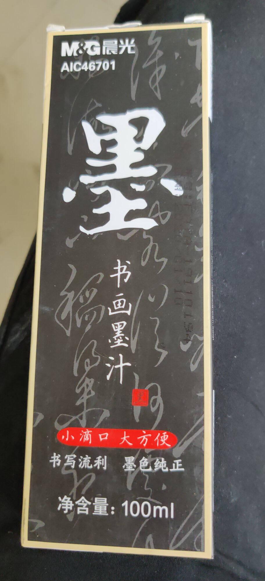 晨光(M&G)文具250ml高级速干墨汁创作墨汁文房四宝初学者书法绘画墨水单瓶装AICW8806
