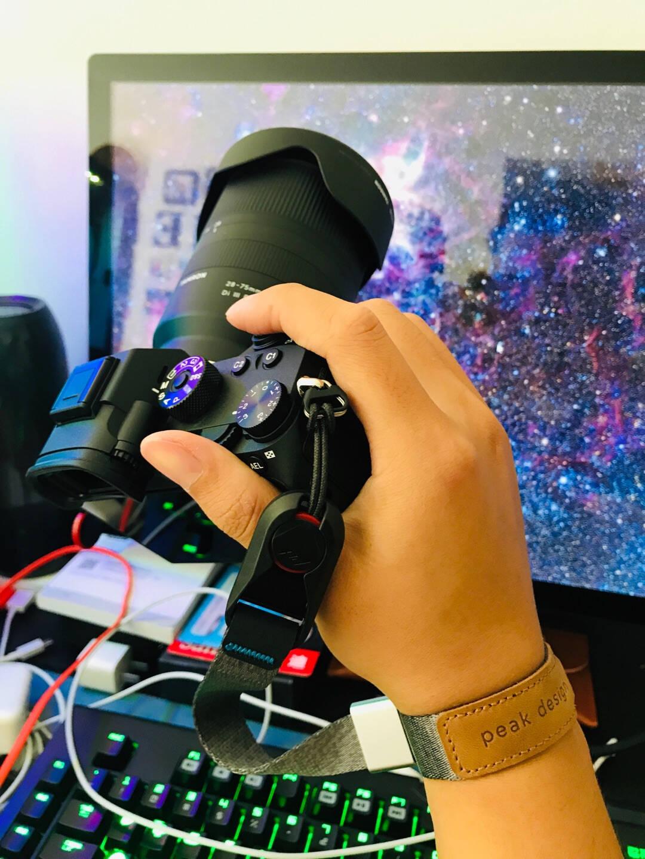 巅峰设计PeakDesignCUFF佳能尼康索尼徕卡单反微单相机手绳手腕带CUFF新款(炭烧黑-顺丰快递)