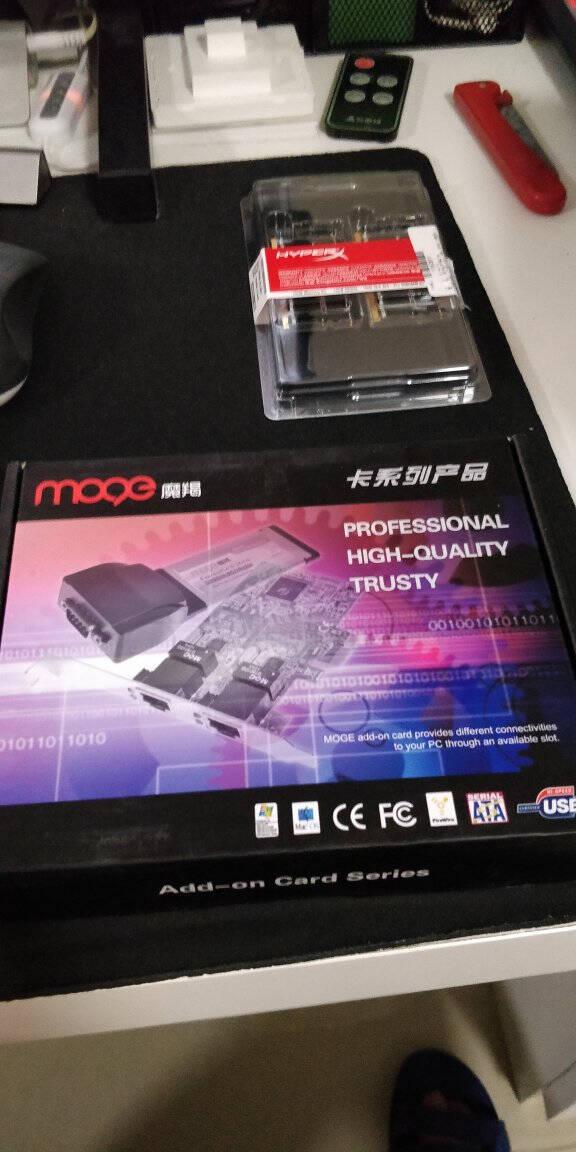 魔羯MOGE台式机SATA3.0扩展卡2口6GPCI-E转SATA3.0硬盘转接卡SSD固态转接卡扩展卡MC2662