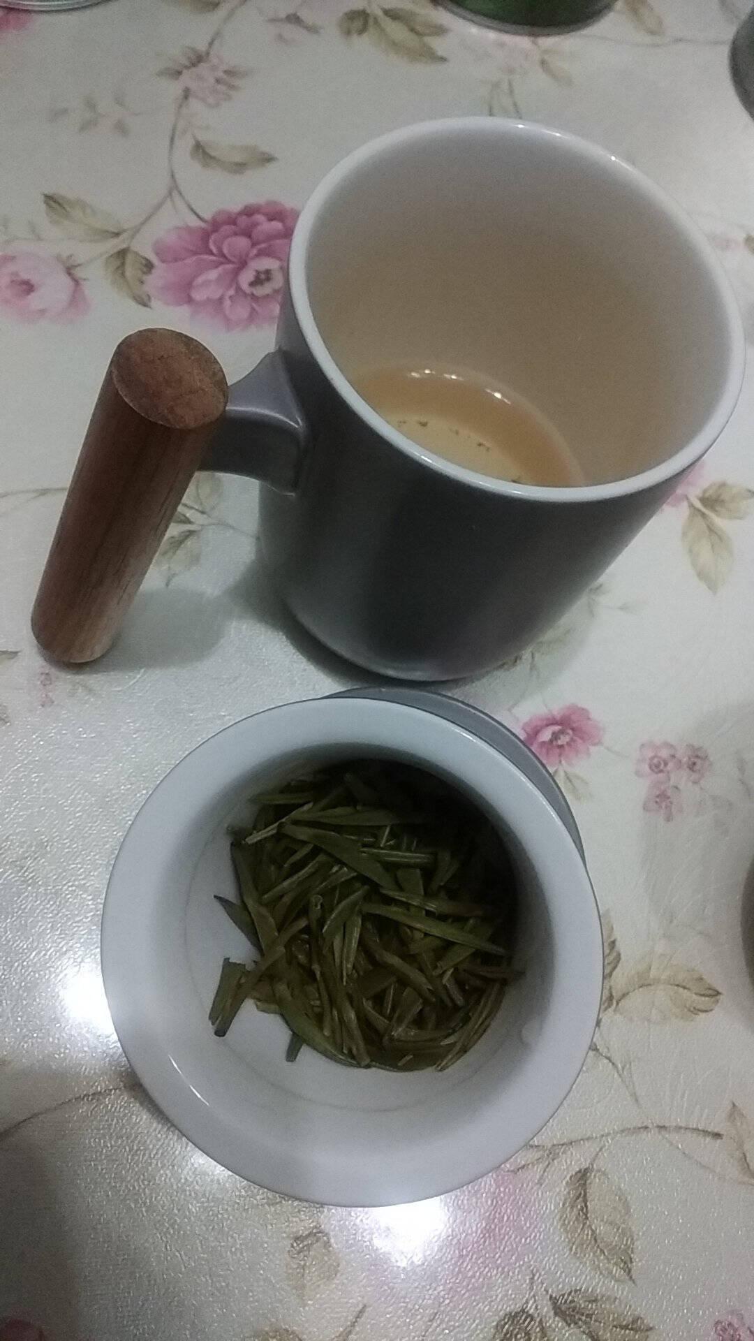 美厨(maxcook)带茶漏茶杯陶瓷三件杯马克杯水杯泡茶杯咖啡杯早餐杯带滤隔380ml哑光灰MCTC123