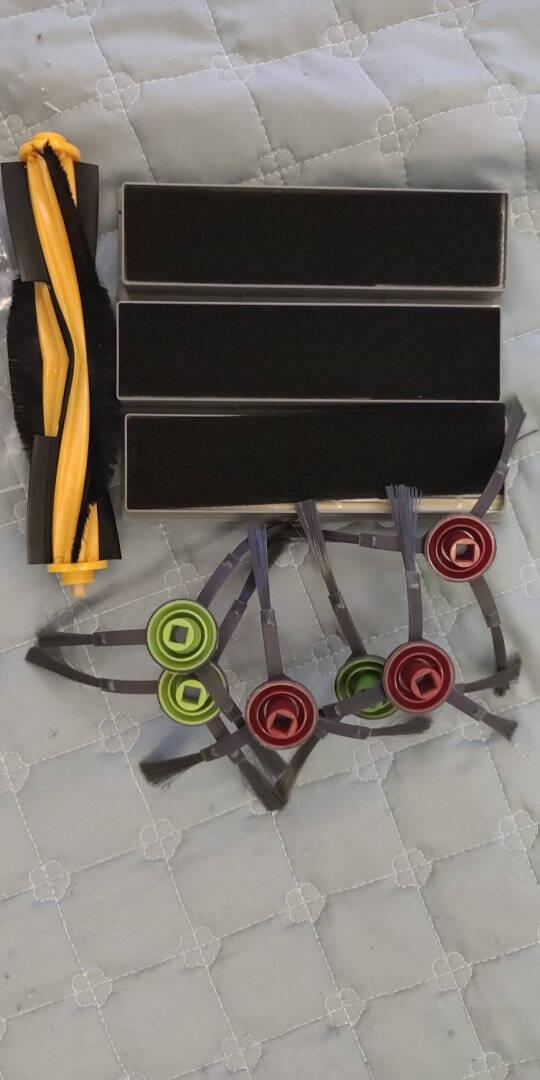 骁将科沃斯扫地机器人配件T9T8POWER/AIVIN8Pro边刷滚刷一次性抹布盖板海帕过滤网50片强拖抹布