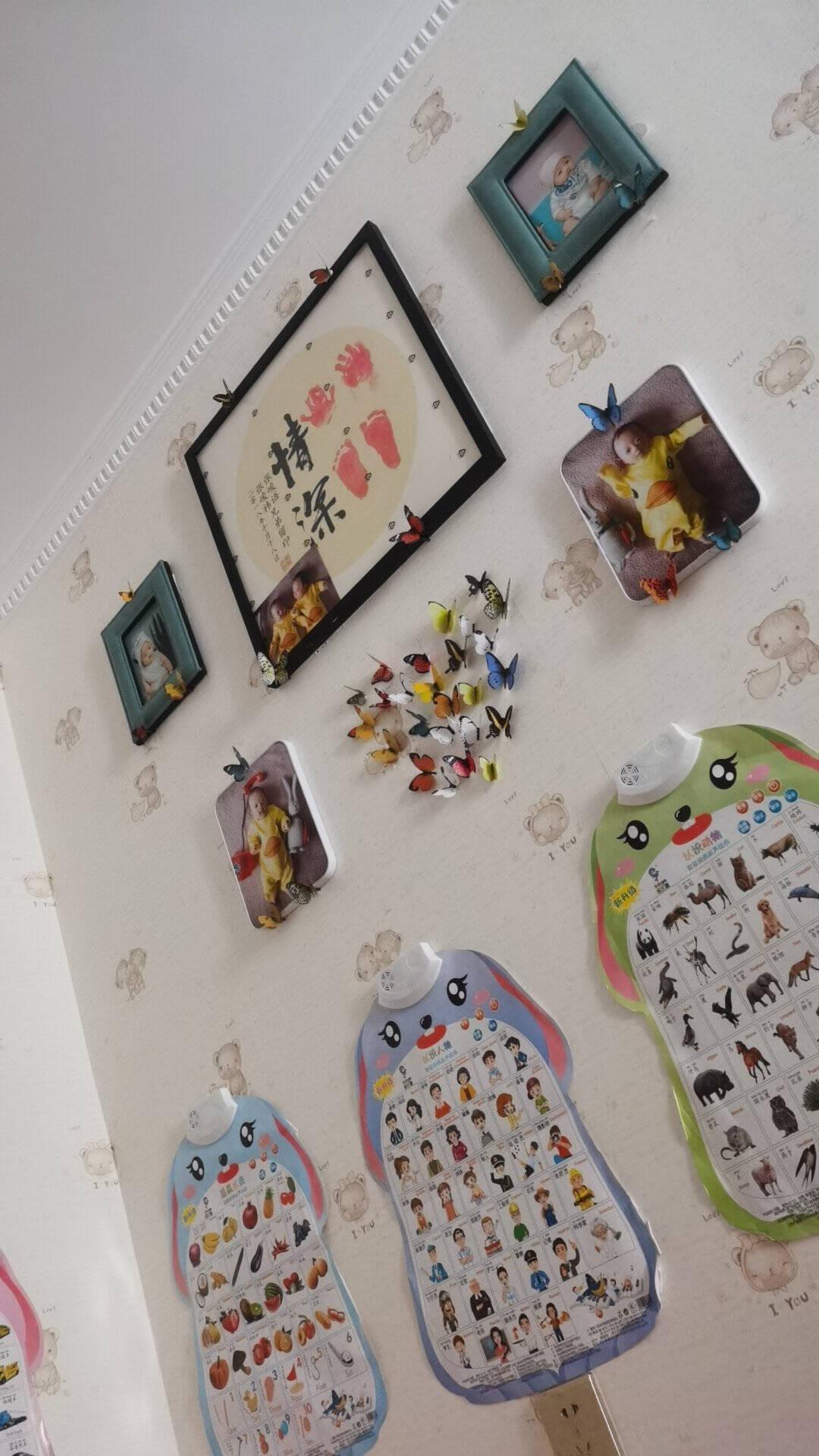 吉朵芸(19只)3D立体仿真蝴蝶贴儿童房客厅沙发背景电视墙卧室床头墙贴冰箱贴衣柜贴自粘墙纸壁画H1-001--19只中