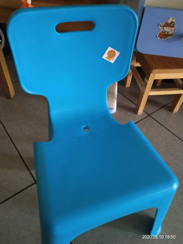 禧天龙Citylong塑料凳靠背凳家用休闲椅凳防滑换鞋凳加厚浴室凳家具凳子冰河灰1个装