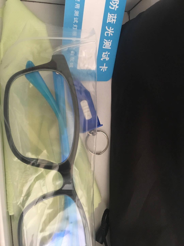 雷麦防蓝光眼镜男女款圆框青少年学生商务办公眼镜手机电脑护目镜平光镜Z006亮黑