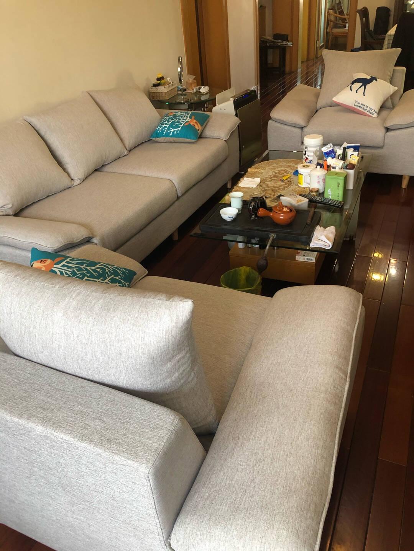 瑜芯沙发北欧小户型布艺三人位四人位乳胶沙发可拆洗直排沙发客厅整装松木框架家具1610【三防布/科技布】颜色留言备注松木款双人位1.65米【乳胶版】