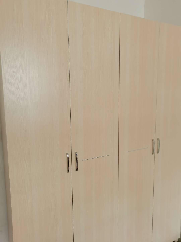 全友家居衣柜现代简约平开门衣柜卧室家具四门大衣柜106302四门衣柜