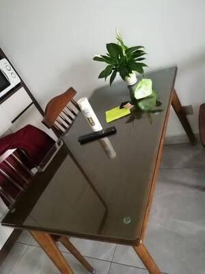 广途钢化玻璃定做茶几玻璃桌面餐桌钢化玻璃桌面长方形圆形玻璃板定制