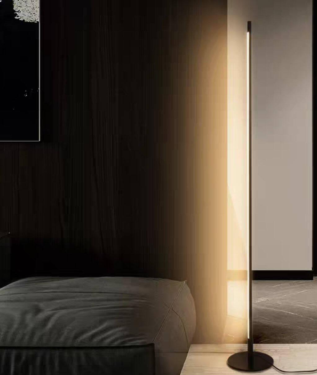 UPSHINE落地灯ins风现代简约卧室客厅个性极简创意氛围灯立式床头落地灯遥控版-含底座