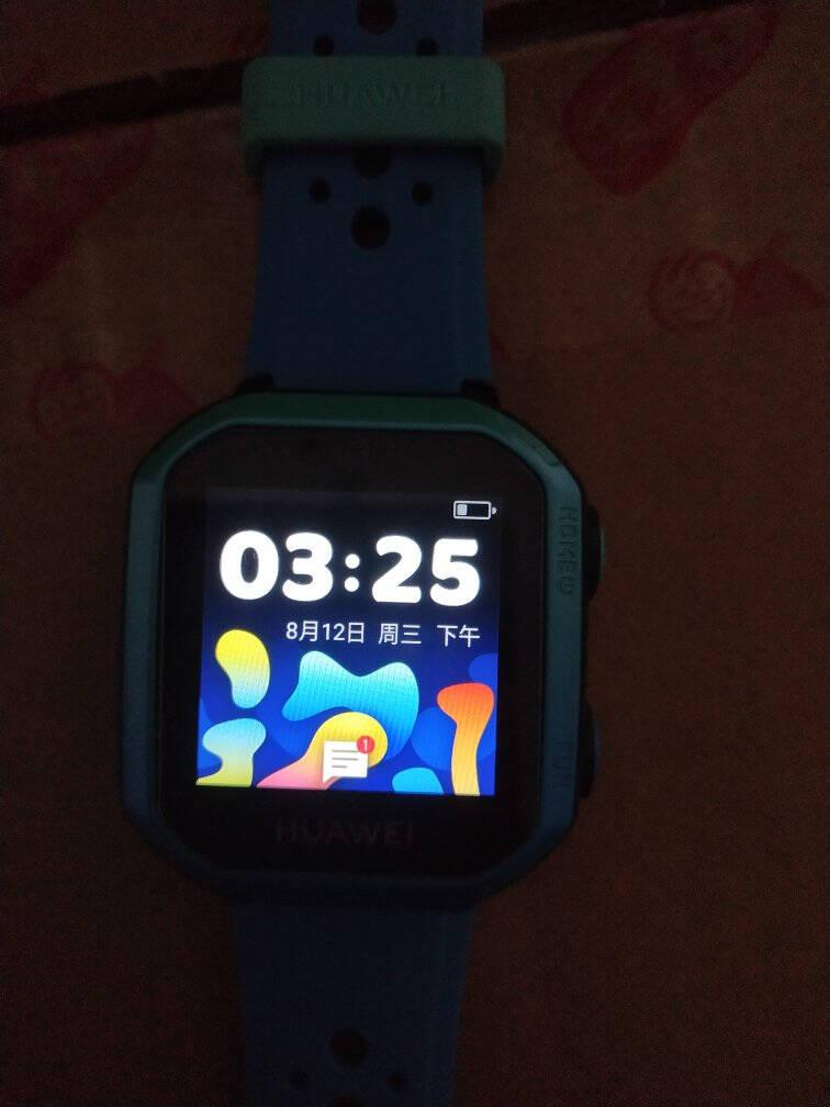 华为儿童电话手表3s4G全网通话IP68防水GPS北斗八重AI定位小天男女学生小孩智能手环冰山蓝