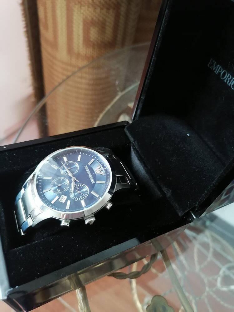 阿玛尼(EmporioArmani)手表休闲商务三眼多功能男士腕表AR1807