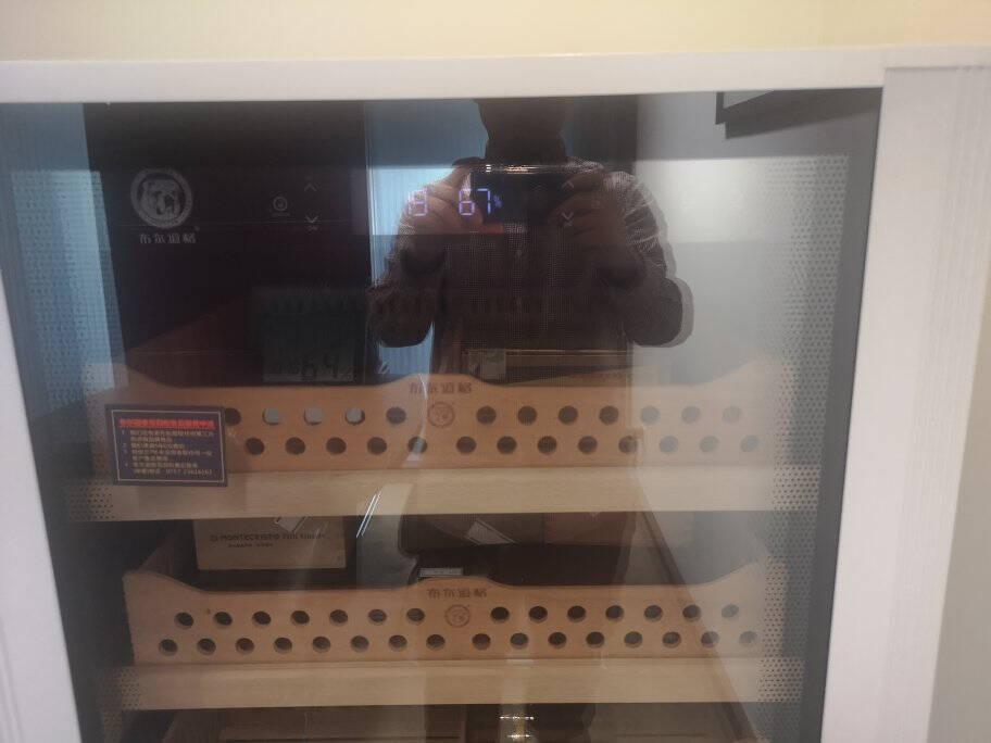 布尔道格(bulldog)雪茄柜恒温恒湿变频压缩机电子控湿德国保湿柜雪茄红酒两用冷藏柜vc428新升级版第三代白色2200支容量