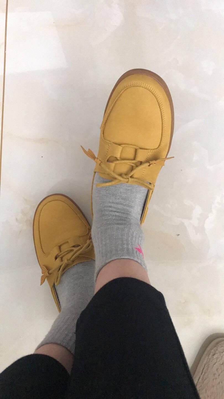 暇步士hushpuppies休闲鞋女士平底时尚系带百搭舒适板鞋B2I27AM0白色39