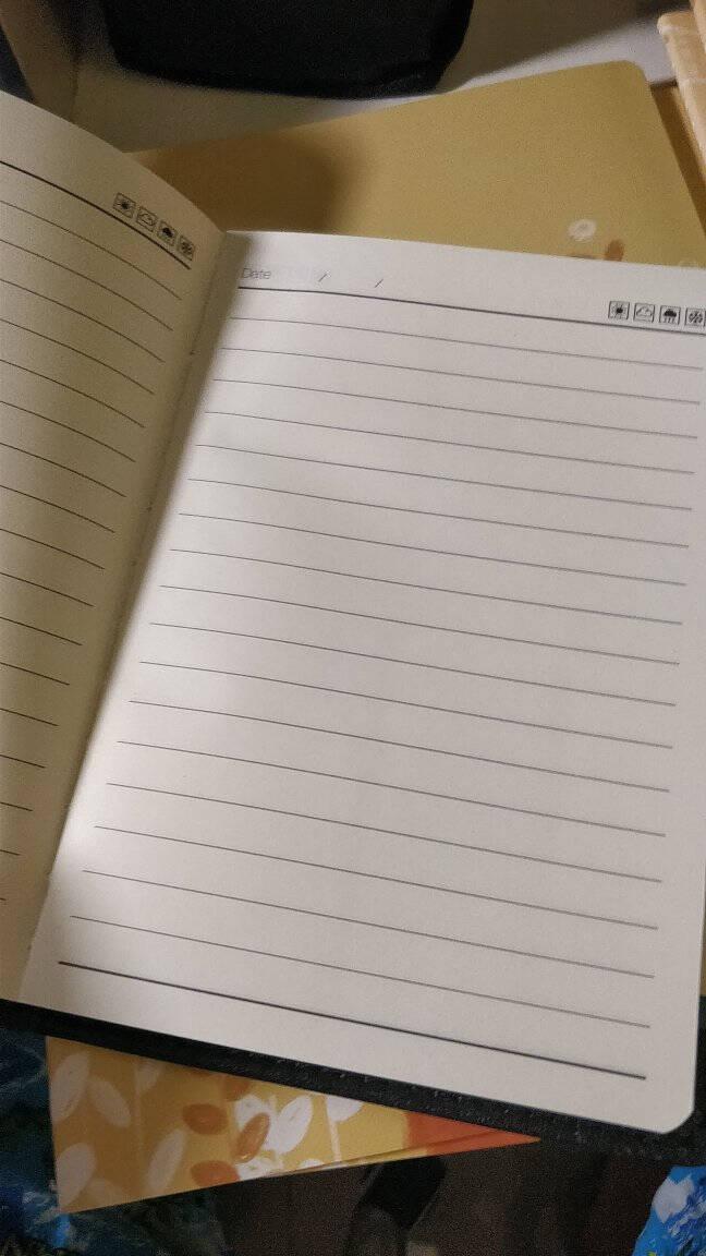 晨光(M&G)文具32K/80页黑色办公笔记本会议记录皮面本普惠型日记本商务记事本子单本装APY1AK78