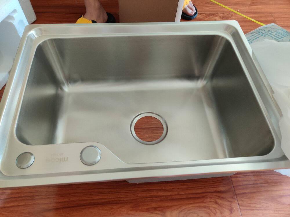 四季沐歌(MICOE)304不锈钢单槽水槽厨房水槽抽拉龙头洗菜池洗菜盆洗碗槽单槽池套餐台上台下盆【一年免费换新】抽拉龙头单槽