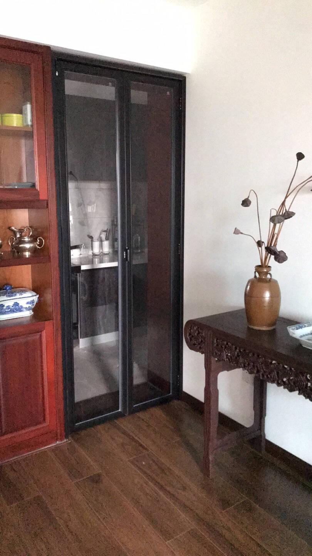 班如钢化玻璃铝合金折叠门卫生间门厨房门家用定制小门洞预售【中小两格款】卫生间折叠门