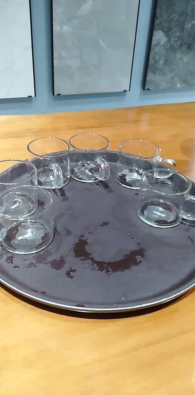 忆壶茶玻璃杯子耐热小品茗杯茶具配件加厚功夫花茶杯套装耐高温家居办公带把手水杯6只装套组(100ml)