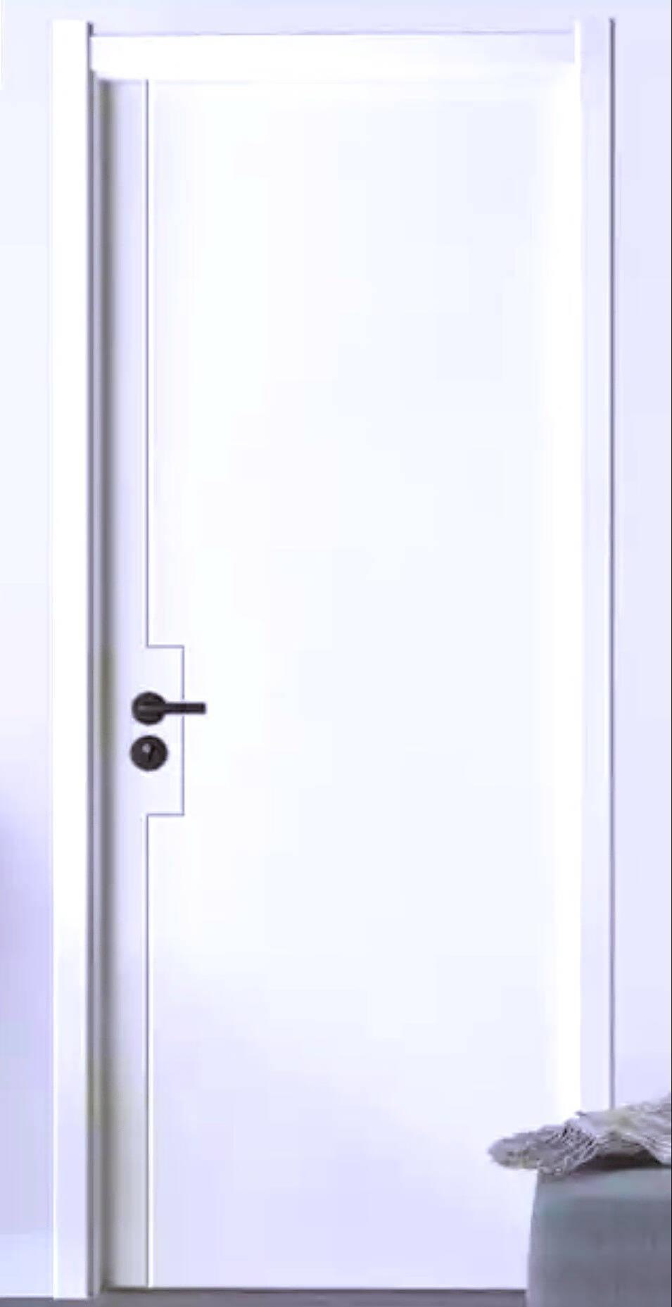 美心免漆木门N795蒙迪蒙小茗系列门实木复合低碳无漆简约室内门套装门卧室门房间门