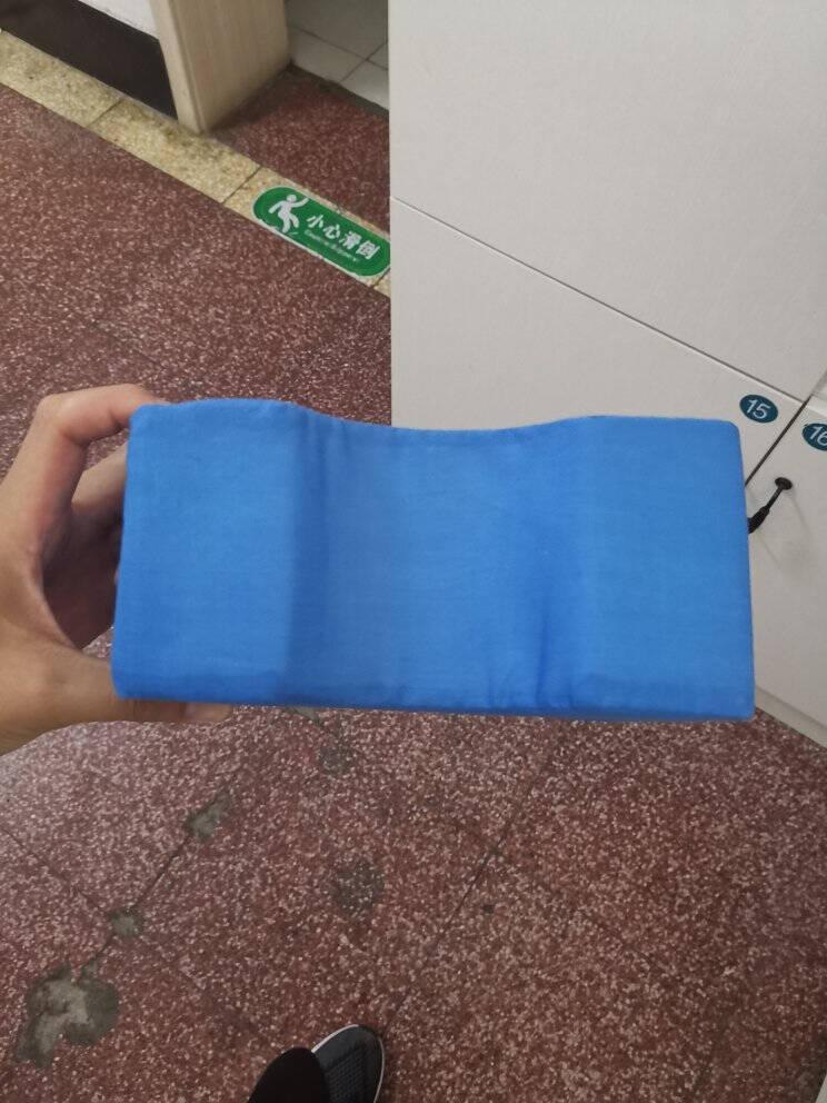 展翔医用上肢垫海绵三角垫胳膊手腕抬高海绵垫体位垫海绵护理垫家用40*20*20(蓝色)