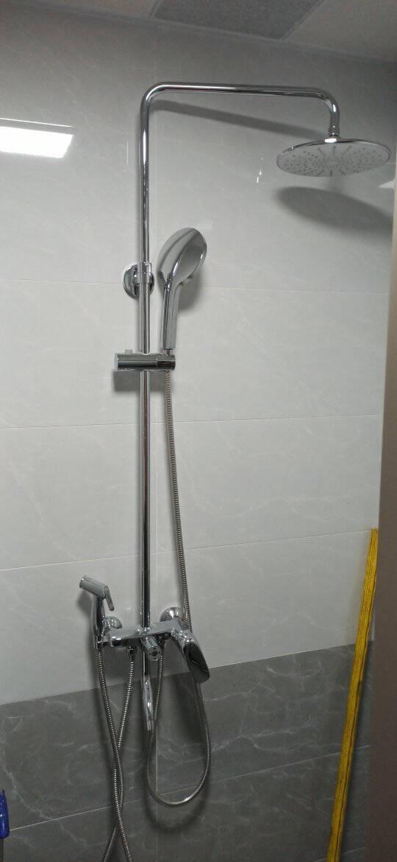 九牧JOMOO花洒套装空气能升级硅胶除垢一键三控卫浴淋浴器套装36450