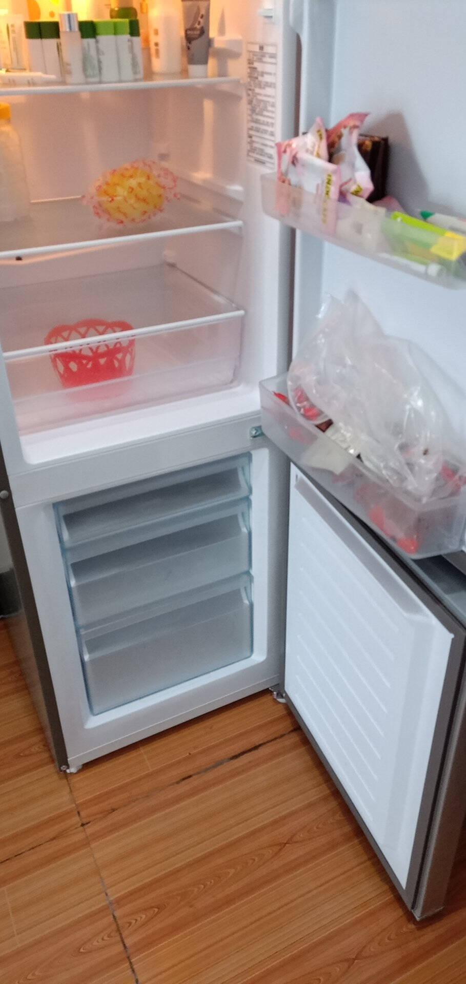 【海尔旗舰店】海尔冰箱统帅系列177升冰箱小型双开门冷藏冷冻家用节能小冰箱深冷速冻宿舍出租房电冰箱