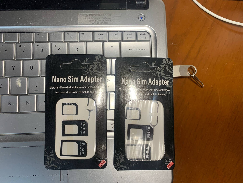 技光(JEARLAKON)卡槽卡针四件套手机卡托还原sim卡套Micro/Nano转化卡槽取卡针苹果华为小米通用黑色