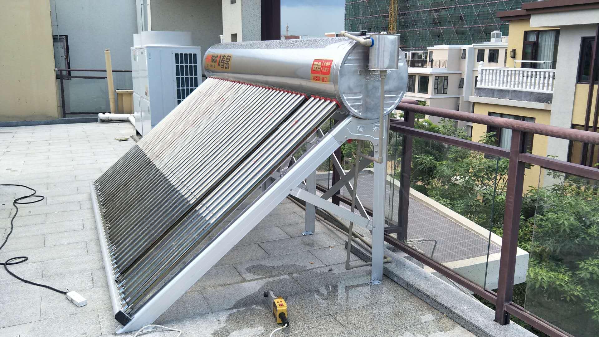 春泉太空能热水器空气能太阳能热水器家用一体机大容量一级节能省电热泵四季恒温双仓加配增压回水系统47管2匹/470升/10-14人