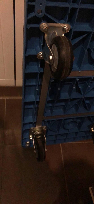 搬运宝BYB-1600经济款平板车手推车折叠手拉车拖车小推车拉车拉货车塑料搬运车小号72x46cm承重300斤