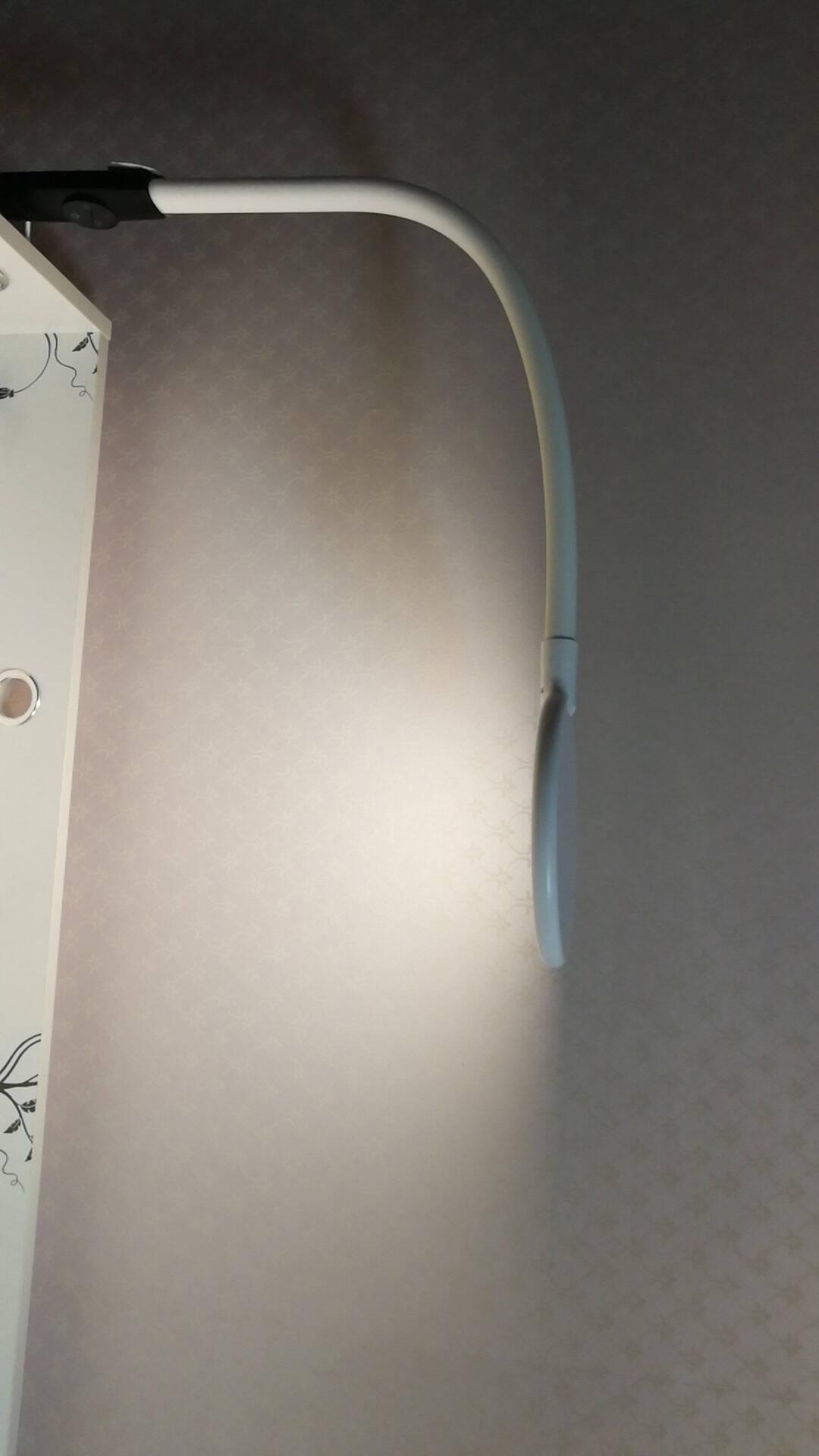 良亮LED落地灯学生学习书桌钢琴灯卧室床头灯客厅书房阅读立式调光调色落地灯简约现代6609简约白