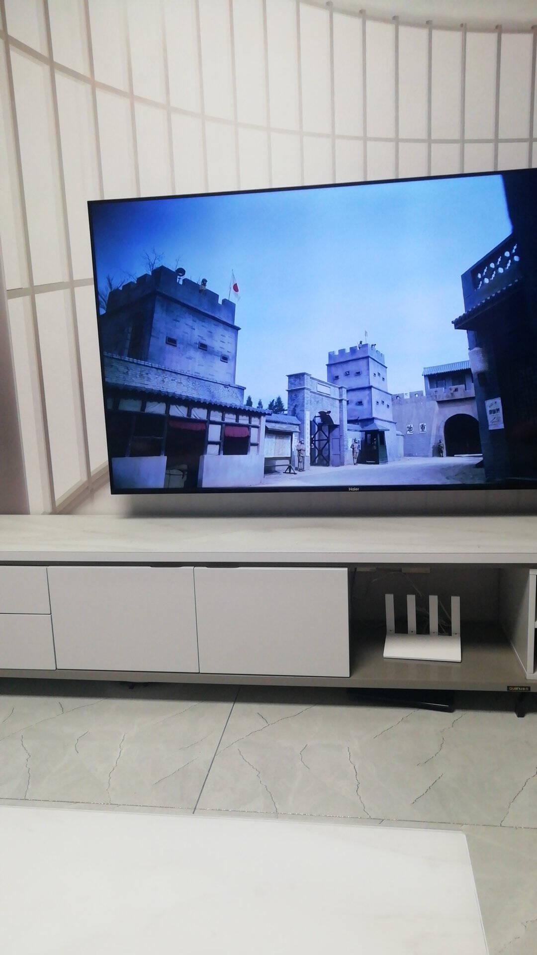海尔(Haier)65V3165英寸超薄全面屏4K超高清人工智能语音遥控幼儿教育LED液晶电视(黑色)2+16G