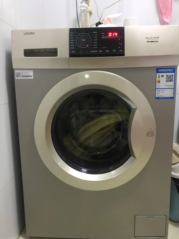 【官方直营】海尔洗衣机全自动滚筒洗衣机9/10公斤家用大容量统帅变频节能静音高温加热洗9公斤全自动洗衣机