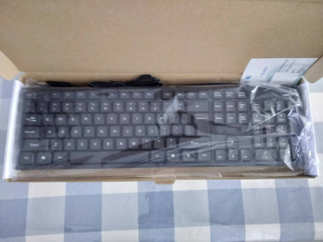 灵蛇(LINGSHE)有线单键盘USB笔记本台式电脑一体机通用办公单键盘K200黑色