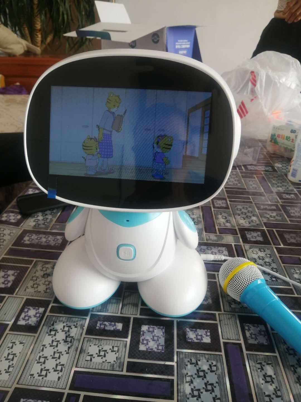 诺巴曼7英寸i70超清触屏ai人工智能机器人学习机3-6-12岁语音对话教学早教机器人教育儿童玩具7英寸智能机器人学习机i70会跳舞走动的7英寸触屏教学机器人
