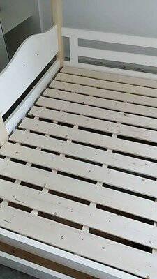 百冠全实木上下床双层床高低床儿童床多功能上下铺木床子母床全实木双梯床(上下床垫+双抽+书架)1500mm*1900mm