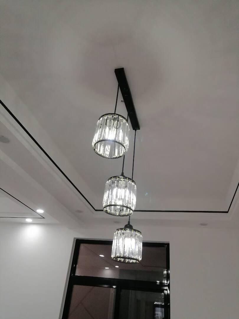 普亿照明欧式吊灯客厅吊灯轻奢水晶灯复式楼奢华大气简欧餐厅卧室书房灯具6头吊灯配套12W三色变光led灯泡