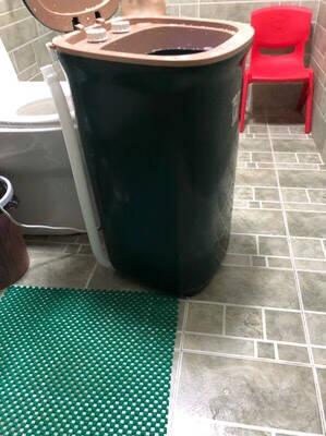 小鸭牌4.5公斤半全自动波轮迷你洗衣机小型洗衣机小母婴儿童宝宝家用半自动单桶洗内衣袜子机WPZ4506T墨绿色