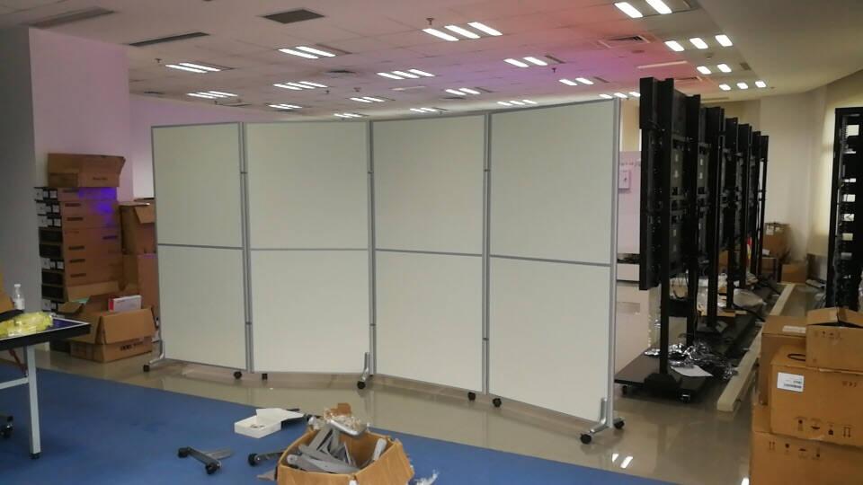 美轩戈上海办公室隔断移动屏风可折叠移动高隔断板式隔墙屏风简约现代全板式每平方不含脚