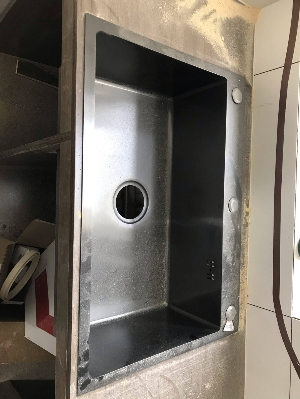 卫达斯(VINDAZ)洗菜盆厨房水槽单槽纳米洗菜池304不锈钢洗碗池手工淘菜盆水盆大单槽台下盆C套餐-三孔单槽+黑色厨房抽拉龙头尺寸-60*45cm