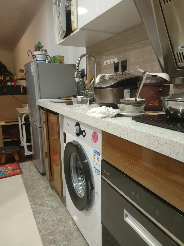 【就近发货】TCL洗衣机全自动滚筒6.5公斤小型家用超薄高温除菌静音下排水Q100芭蕾白