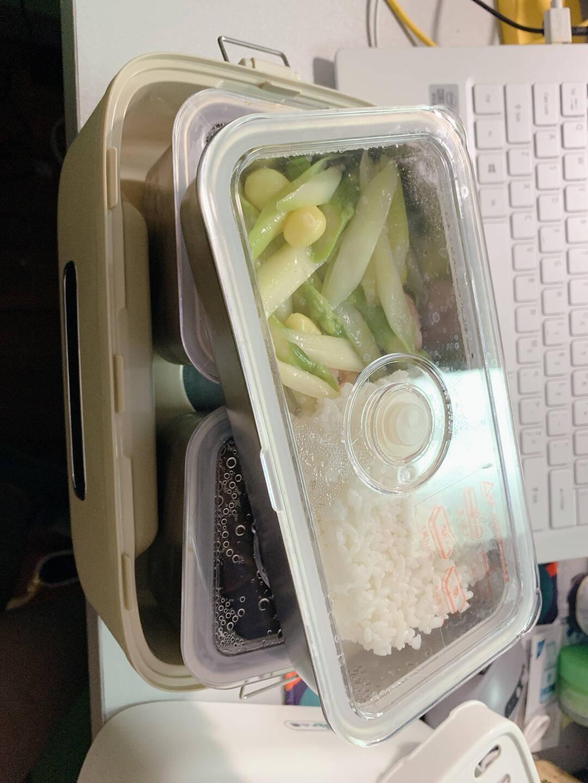小熊(Bear)电热饭盒插电式保温饭盒上班族便携式微电脑预约多功能加热饭盒双层1.5L不锈钢内胆DFH-B15Q1