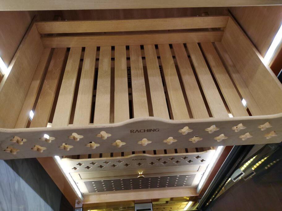 美晶(raching)MON3800A智能WiFi水平线恒温恒湿雪茄柜实木美国压缩机独立醒茄区全西班牙雪松木树瘤金