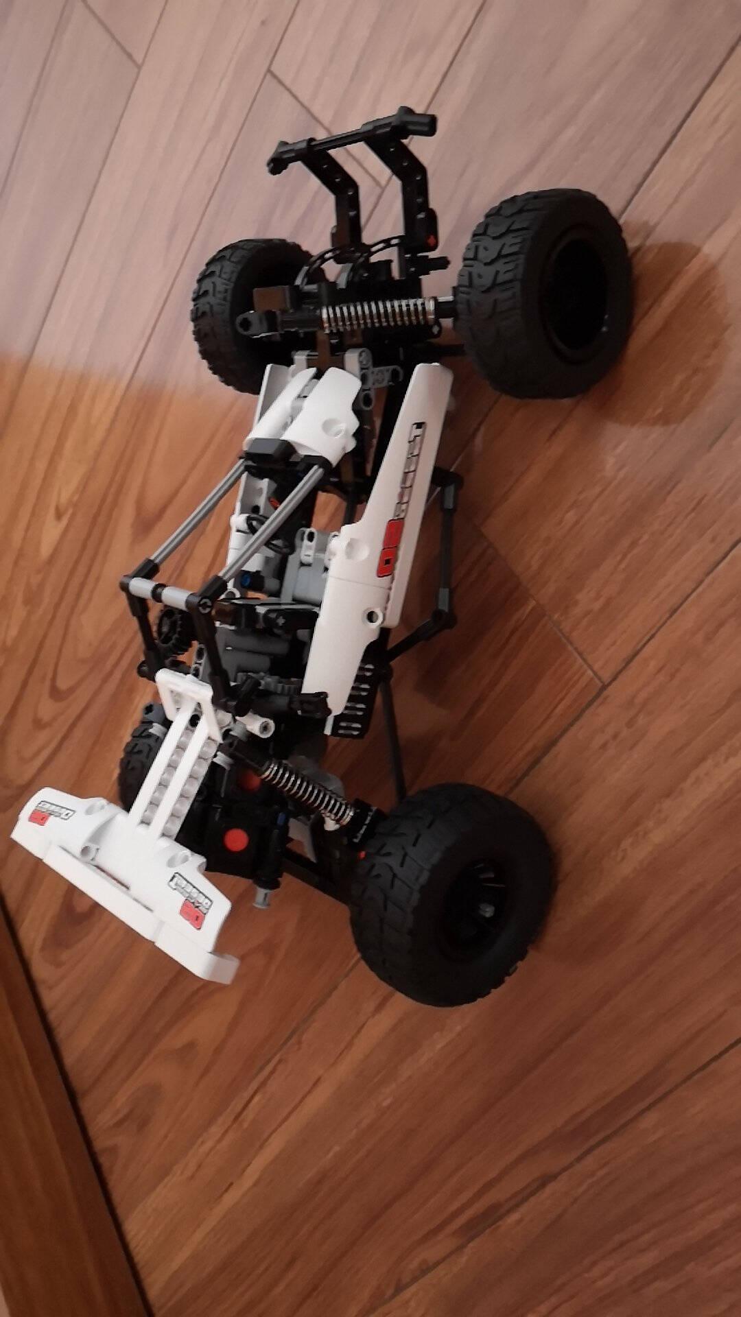 小米儿童玩具积木早教益智机器人儿童益智开发拼装沙漠赛车