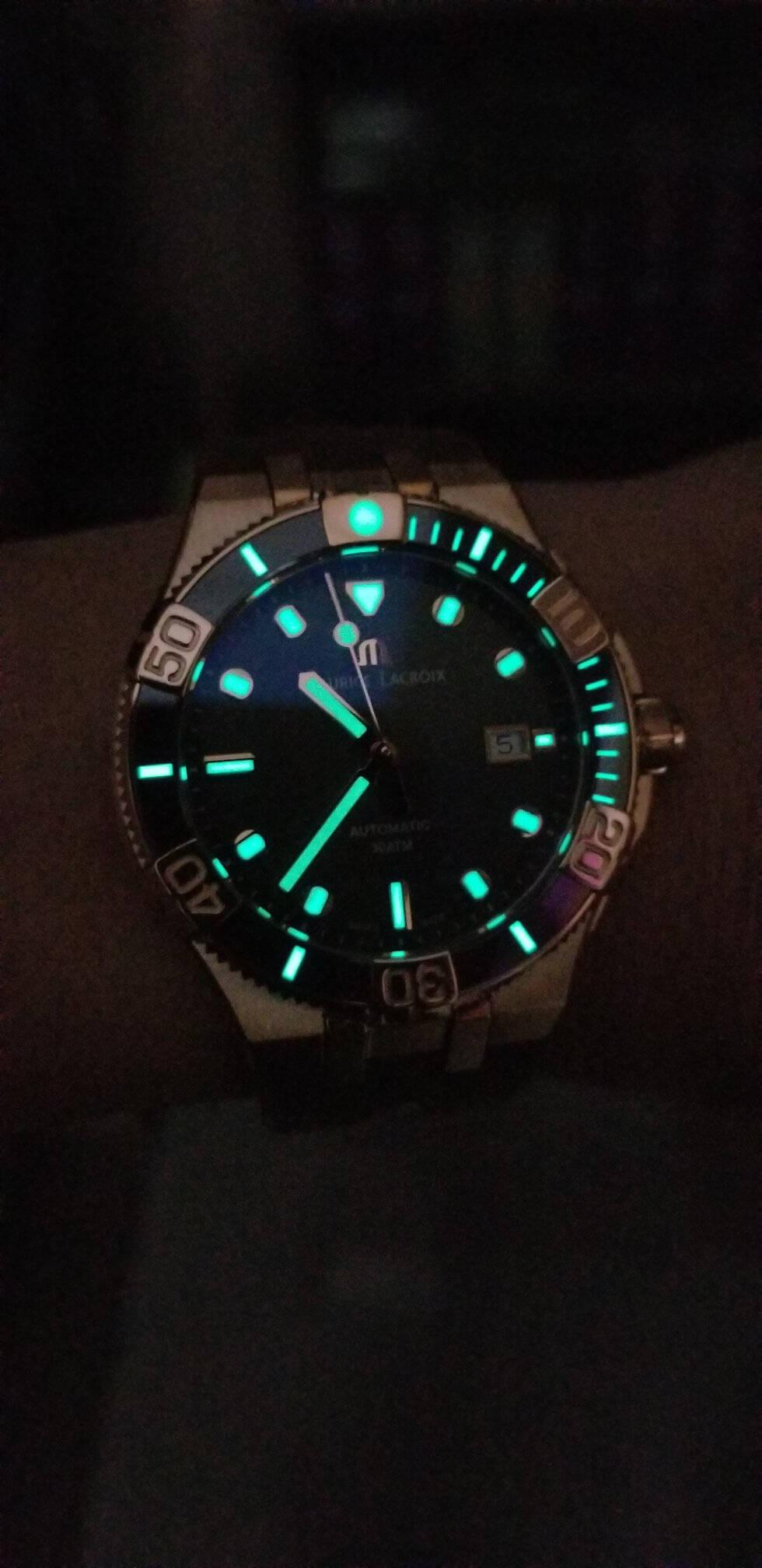 艾美(MAURICELACROIX)手表瑞士ML115机械机芯300米潜水表强夜光显示男士简约腕表AI6058-BRZ01-630-1全球限量500