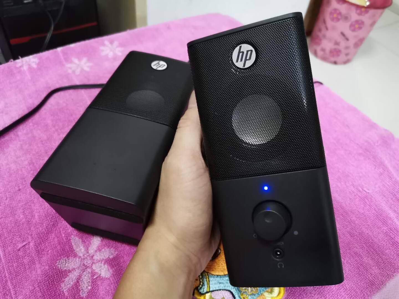 惠普(HP)电脑音响音箱台式机笔记本家用迷你小音箱小型低音炮超重低音喇叭usb接口有线高音质扬声器DHS-2101黑色