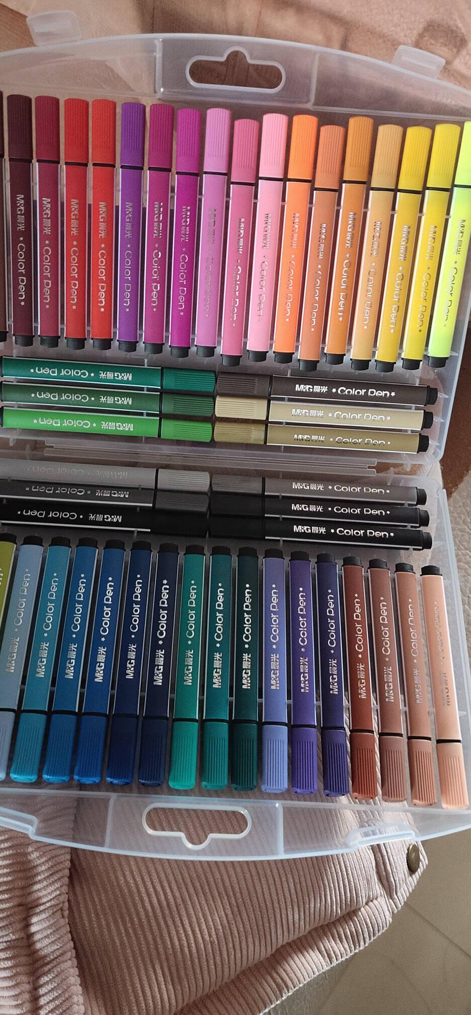 晨光(M&G)文具24色三角杆水彩笔儿童可水洗创作画笔小熊哈里系列水彩绘画笔24支/盒ACPN0396