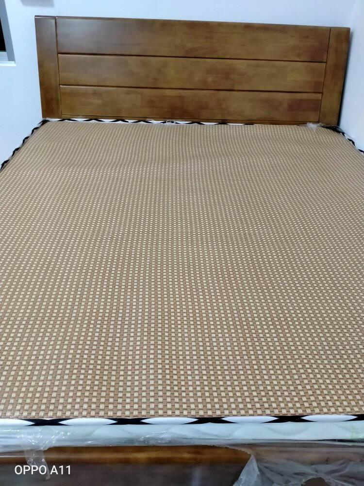 木鼎轩床实木床双人床1.81.5米新中式现代橡胶木床婚床卧室家具组合套装1.5M*2.0M标准版单床(颜色/尺寸备注)