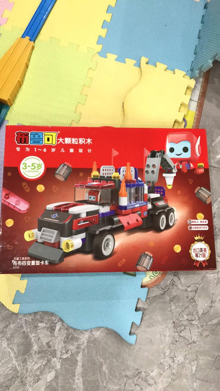 布鲁可百变重型卡车大颗粒拼装儿童积木玩具车百变布鲁克积木创意拼搭玩具男孩女孩创意拼装积木车儿童节礼物布布重型卡车(拼搭版)