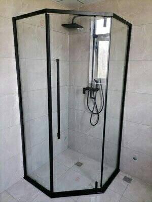 德拉钻石型淋浴房整体卫生间干湿分离隔断浴室玻璃门家用洗澡房防爆玻璃每套